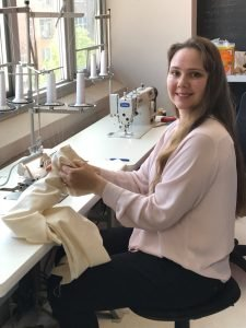 Alina at sewing employer